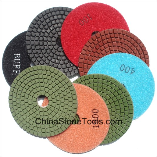 "4"" Diamond Polishing Pads for Stone - Wet Use"